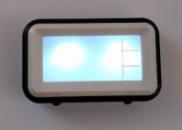 Уценка! Говорящие настольные часы с подсветкой Atima AT-608TR Чёрные