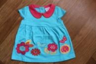 Платье Цветы 100% хлопок высшего качества. Аппликация, вышивка