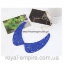 Воротник - ожерелье  «Сирень» синий.
