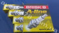 Свеча зажигания 2101-08, Таврия, 1102, 1103, 1105, Ланос, Сенс Brisk A-Line 02 (комплект)