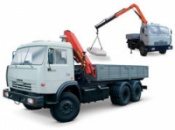 Предоставляем услуги крана-манипулятора на базе автомобиля КАМАЗ