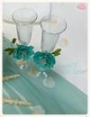 Декор бокалів ручної роботи із ревелюру /Можливе виконання в різних кольорах/