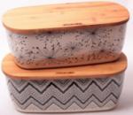 Хлебница Kamille 36х20.2 из бамбукового волокна с бамбуковой крышкой