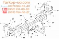 Тягово-сцепное устройство (фаркоп) Citroen C4 AirCross (2012-...)