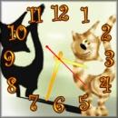 Часы настенные Кошечки