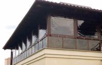 Изготовление и монтаж защитных окон штор из тентовых тканей на высотных объектах. Киев