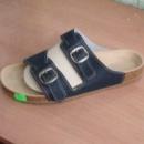 Ортопедические сандалии Т-25 синие, гладкая кожа