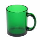 Чашка стеклянная зеленная с лого