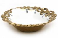 Блюдо «Жар-птица» Gold Luxury-01 Ø31x8см с декоративными стразами