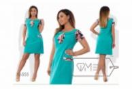 Платье с цветочными вставками +++ БАТАЛ