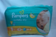 Памперс Pampers active baby 43шт. 1-й размер