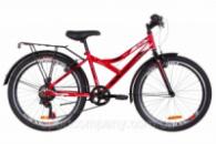 Велосипед 24« Discovery FLINT MC 14G Vbr St с багажником зад St, с крылом St 2019 (красно-белый с черным)