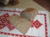 Хліб житньо-пшеничний подовий половинка нарізна 0,65кг