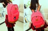 3-64 молодежный рюкзак / стильный / вместительный / женский рюкзак Цвет - красный