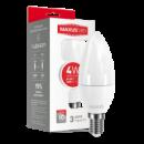 LED лампа MAXUS C37 CL-F 4W мягкий свет 220V E14 (1-LED-5311)