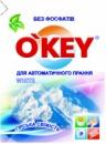 Пральний порошок для автоматичного прання білих речей «Гірська Свіжість» O'KEY White 400 г