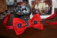 Галстук-бабочка красная с синим /Краватка-метелик червона с синім