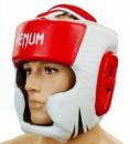 Шлем для бокса(кожа)с полной защитой VENUM CHALLENGER 2.0(VN-5246-R)красно-белый