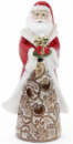 Статуэтка декоративная «Санта с подарком» 25.5см с LED-подсветкой