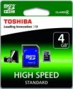 Toshiba microSDHC 4 GB Class 4 + adapter