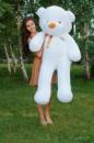 Большой плюшевый медведь Тедди 160 см белый