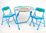 Столик с двумя стульчиками 466-221 (1) с.29, голубой, в кор-ке