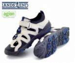 Сандалии подростковые для прогулок и туризма с закрытым носком серые, бренд «Lands`End» (Америка)