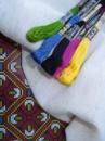 Домоткана рівномірна тканина для вишивання «Мальва» світло-бежового кольору 120грн/м