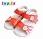 Сандалии (босоножки) для девочек коралловые полностью кожаные, бренд «Lupilu» (Германия)