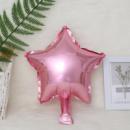 Фольгированный шар звезда розовая 18'' 45 см