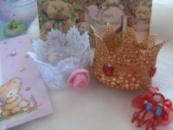 корона золотая и серебристая на праздник
