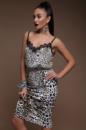 Женская облегающая леопардовая юбка