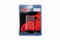 Колодки тормозные (диск) Yamaha JOG SA04 «YONGLI» (красные)