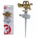 Дождеватель пульсирующий с полной/частичной зоной полива на костыле, круг/сектор полива до 12м. Brass, Zinc al