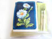 Набор для ковровой вышивки / 2 иглы / (ромашка)