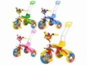 Велосипед G 01 B (4) 3-х колёсный с ручкой, 4 цвета, муз. панель, в кор-ке
