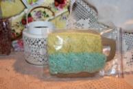 Чехол-грелка на чашку желто-голубой/Чохол-грілка на чашку