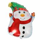 Снеговик в шарфе из фольги
