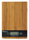 Электронные кухонные деревянные весы на 5 кг Domotec MS-A