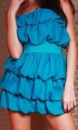 Шифоновое коктельное платье