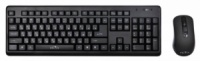 Комплект (клавиатура+мышь) OKLICK 270M, USB, беспроводной, черный