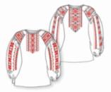 Сорочка женская под вышивку, белая, длинный рукав
