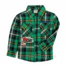 Теплая и модная рубашка с добавлением шерстянной нити