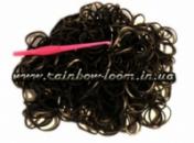 Черные резинки для плетения Rainbow loom