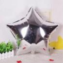 Шар фольгированный звезда серебро мини 9'' 23 см