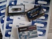 Наклейка №1 на кассету ,,демонстрационная кассета SHARP,,