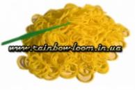 Желтые резинки для плетения Rainbow loom