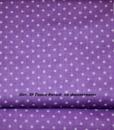 Ткань хлопок 100% Арт №39 «Горох белый на фиолетовом»