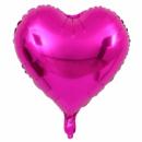 Фольгированный шар сердце малиновое 18'' 45 см