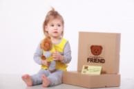 Комплект пижамка и мишка Lucky Friend 86 см Желто-серый (LF002)